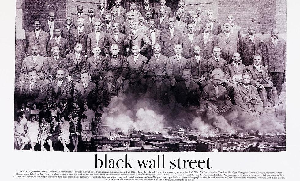 """24"""" x 36"""" Unframed Black Wall Street Print"""