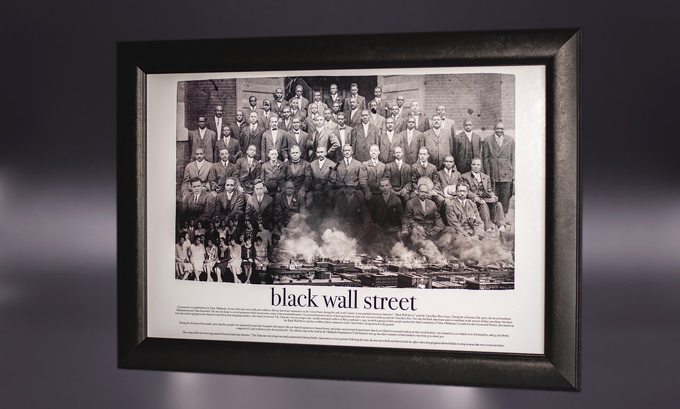 """40"""" x 32"""" Solid Wood Framed Black Wall Street Print"""