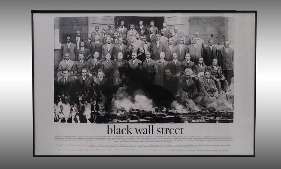 """11"""" X 17"""" Framed Black Wall Street Print"""