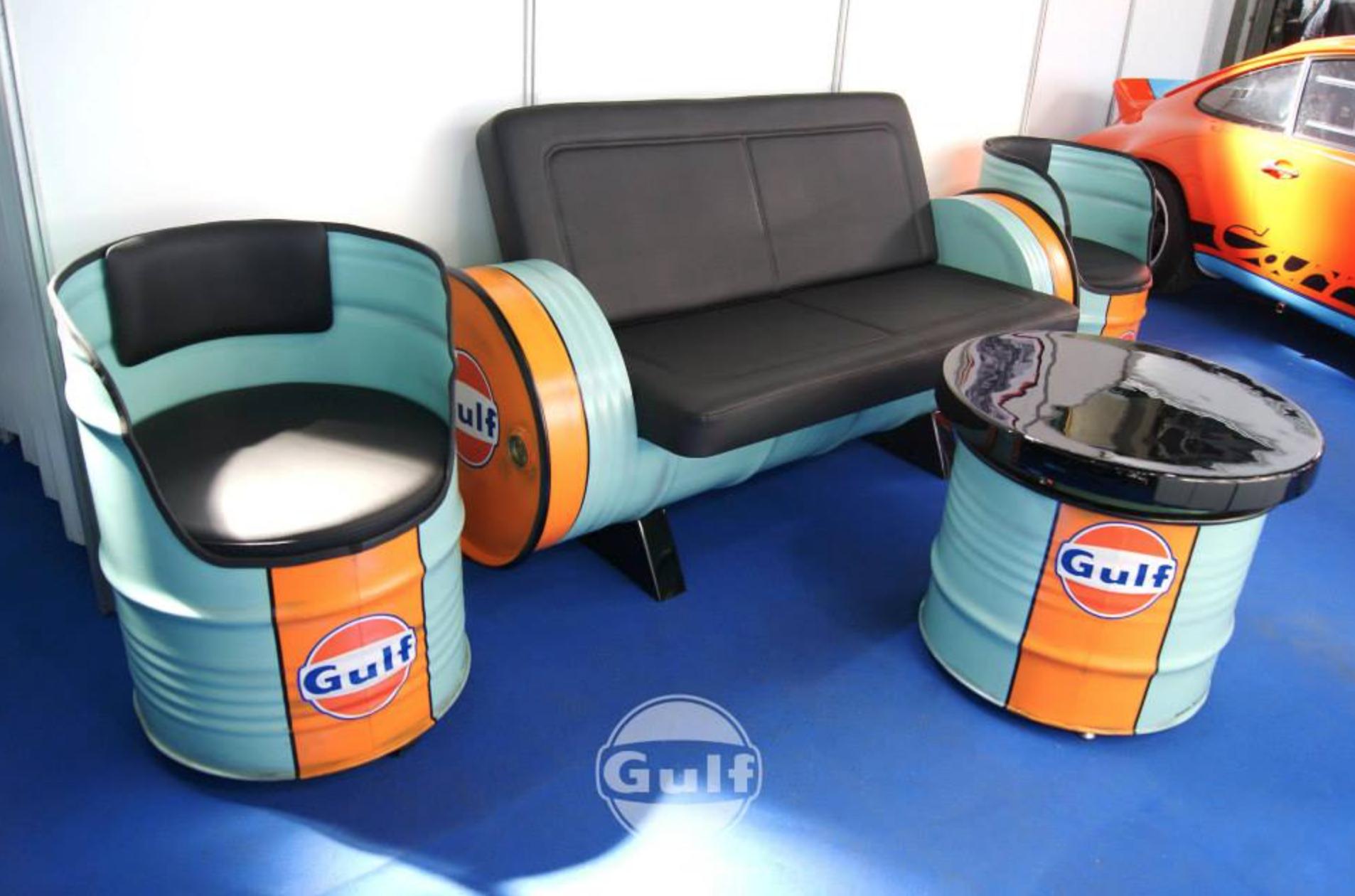 Gulf Vintage 2er Sofa & Drum Seat