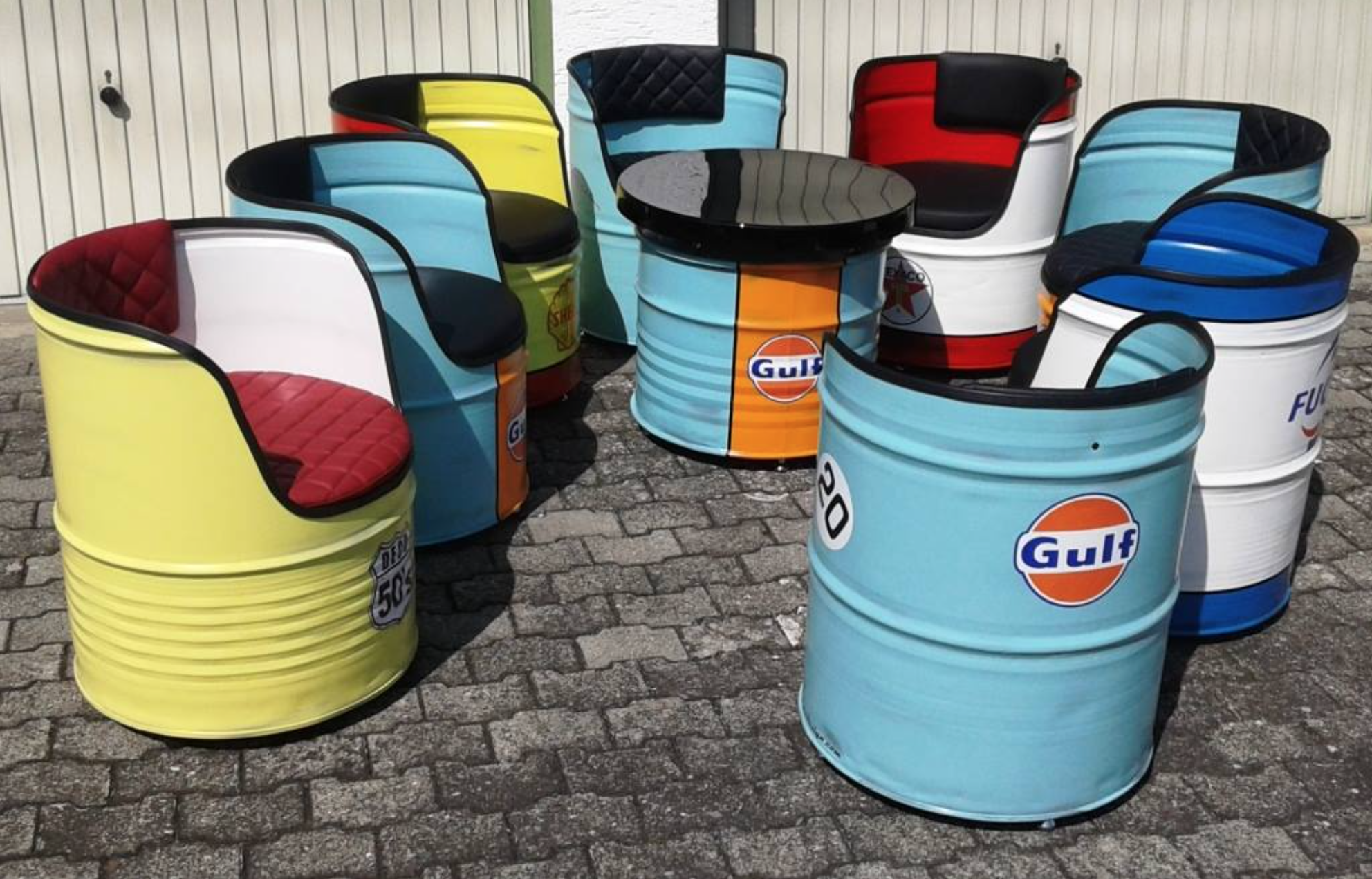 Div. Oil Drum Seats