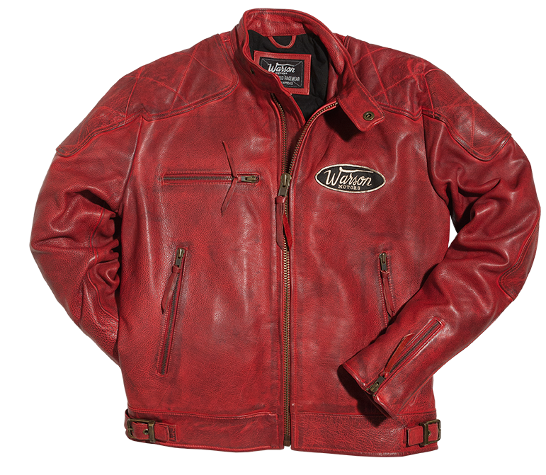 Leather Jacket red Vintage