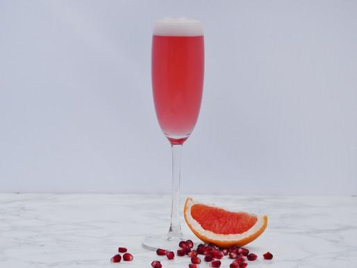 Grapefruit, Rosemary & Pomegranate Gin Fizz