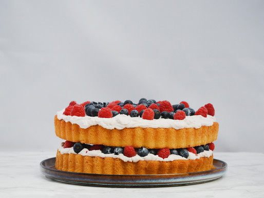 Rose Victoria Sponge cake
