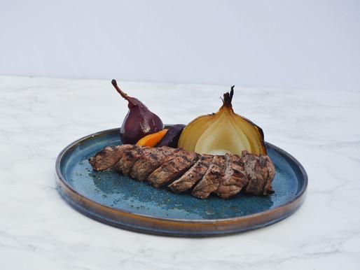 Red wine infused steak