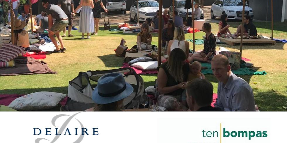 Ten Bompas Hotel picnic in collaboration with Delaire Graff