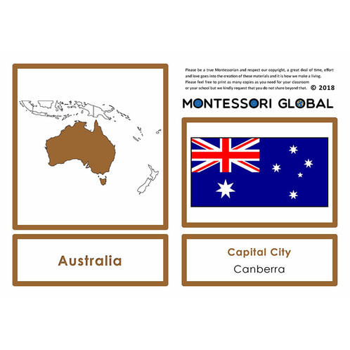 countries of oceania their flags and their capital cities 4 part