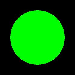 zelená jarní