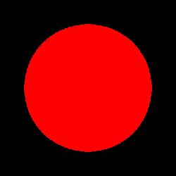 červená světlá