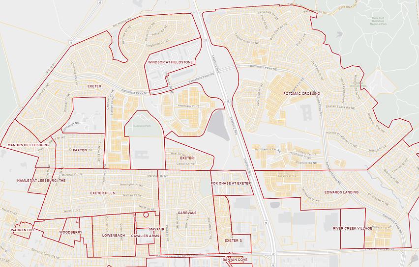 Exeter Boundaries Map.png