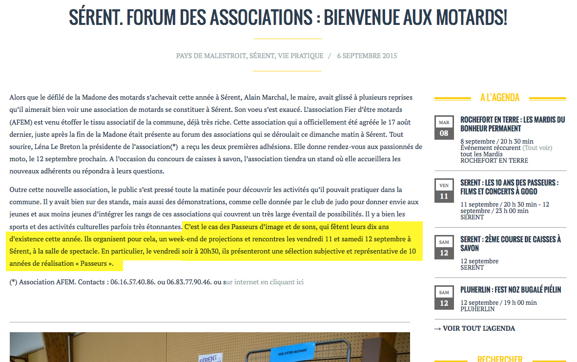 Forum association - les infos du pay