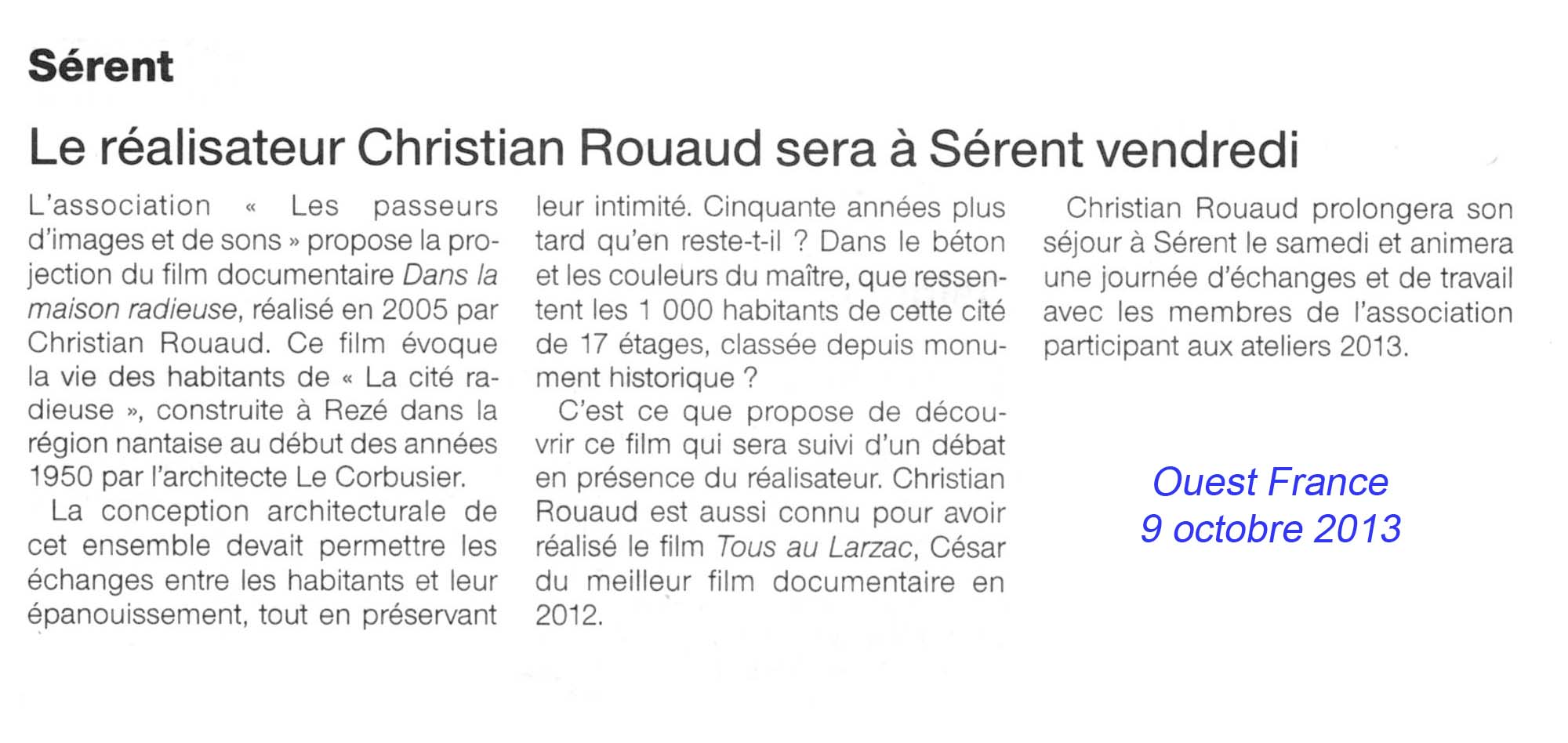 Christian Rouaud à Sérent