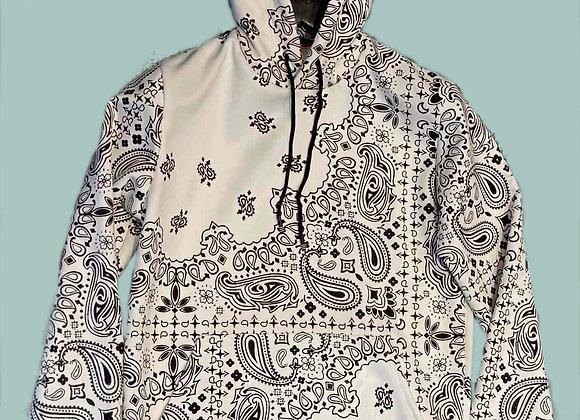 Hoodies Bandana print Blanc
