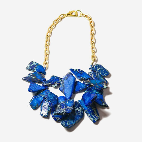 Flush | Short Royal Jasper + Gold Necklace