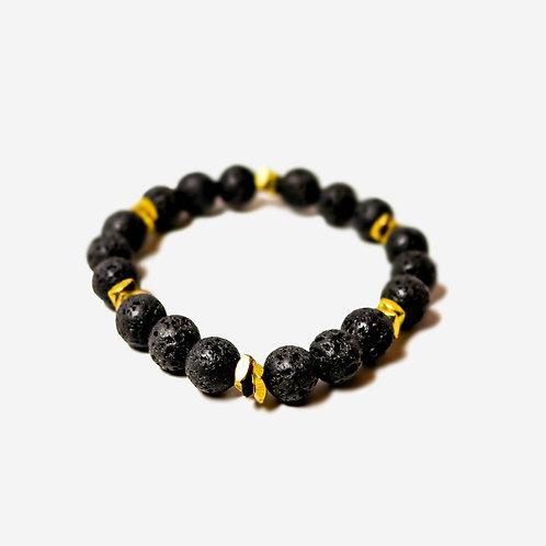Torch | Lava + Brass Bracelet