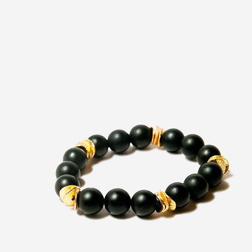 Twilight | Onyx + Gold Bracelet
