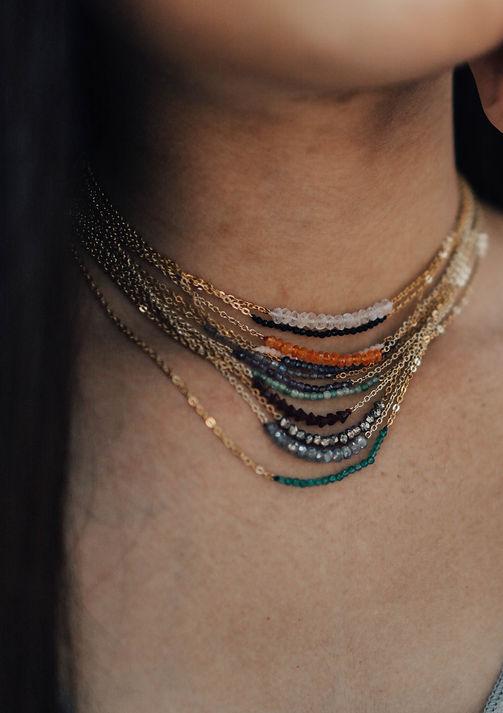 gemstones delicate necklace
