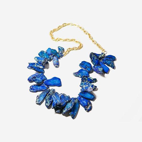 Streak | Long Royal Jasper + Gold Necklace
