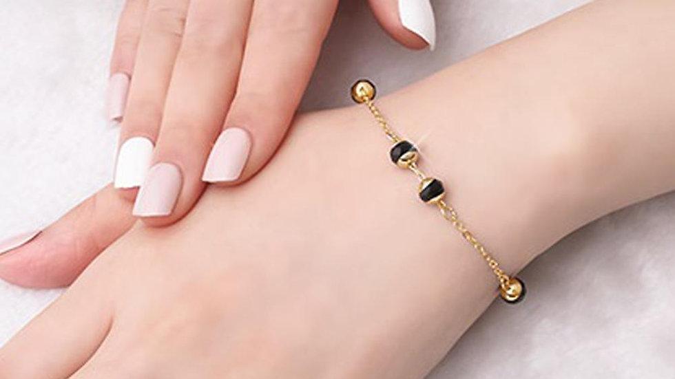 Camila 14K Gold Plated Chain Bracelet with Swarovski Crystals
