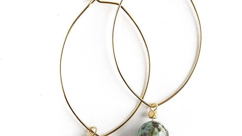 Lenny Gemstone Earrings-African Turquoise