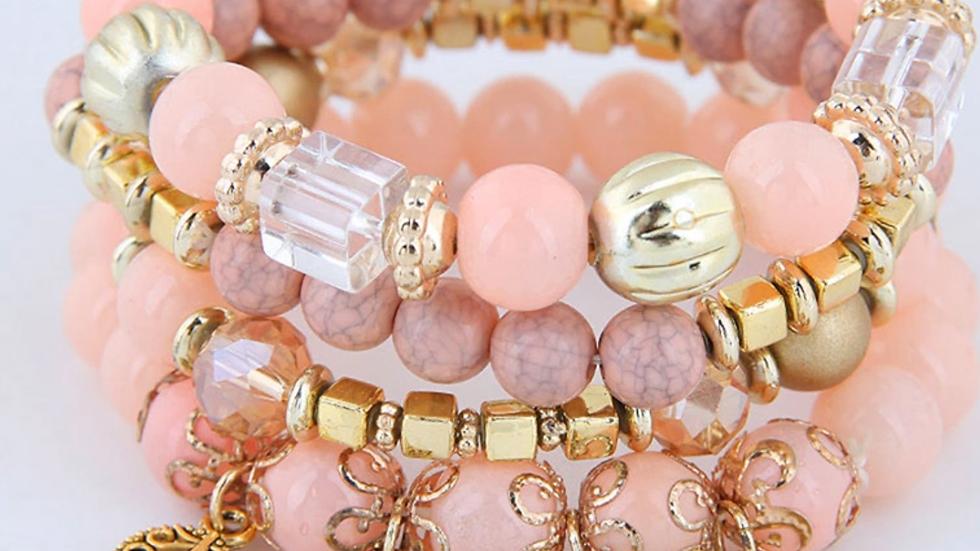 Pinky Bohemian Style Bracelet