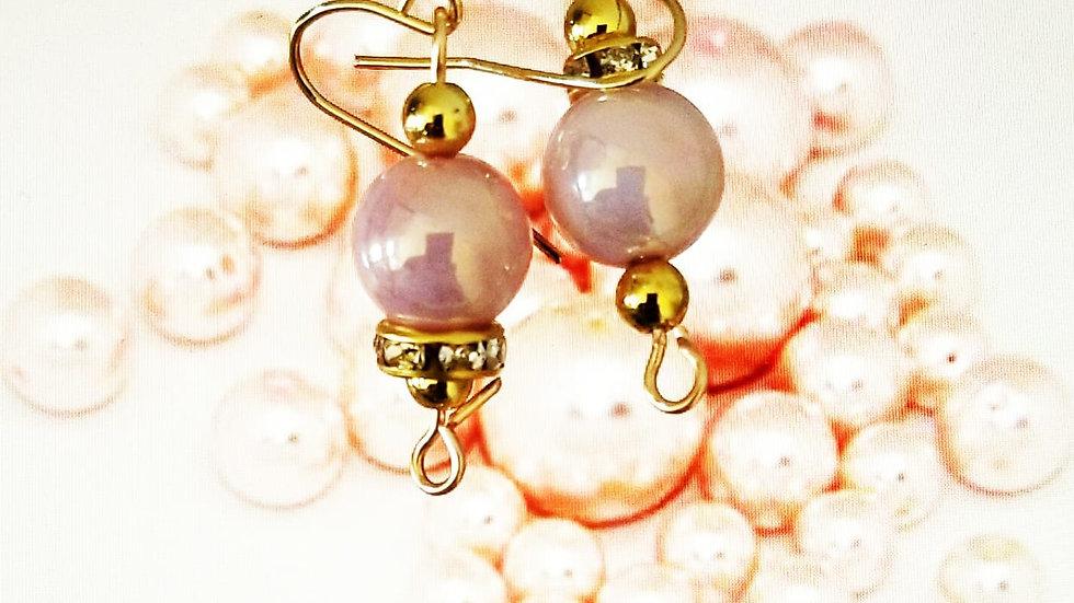 Pinkish Glass Pearls