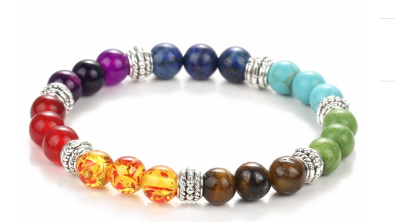 Natural Stone Beaded Bracelets 7 Chakra Lava Beaded Bracelet For Women