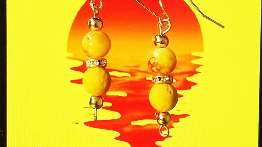 Yellow lava Aroma Diffuser Earring
