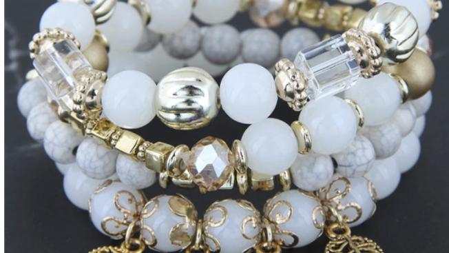 White  Boho Bracelet