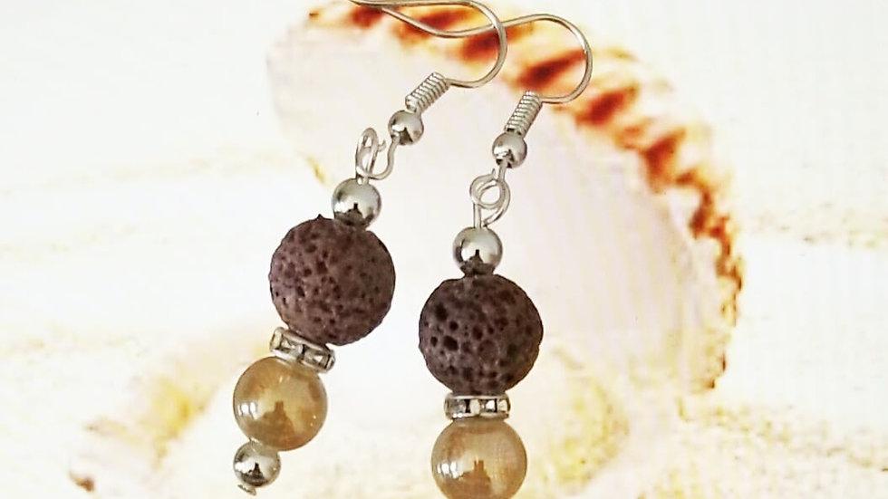 Lavender Lava tone EarringS