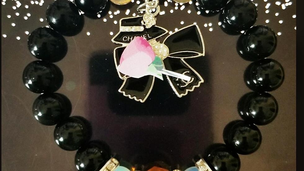 Black Obsidian Designer Inspired Bracelet