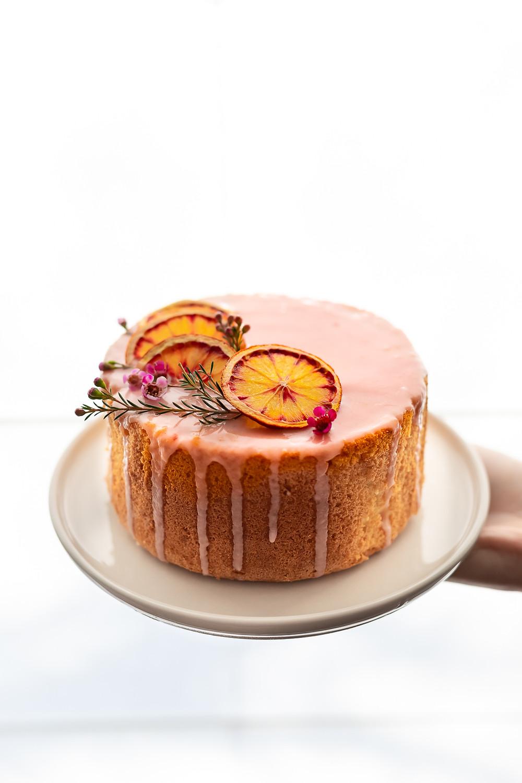 sistersjunction Blood orange chiffon cake - chiffon cake à l'orange sanguine