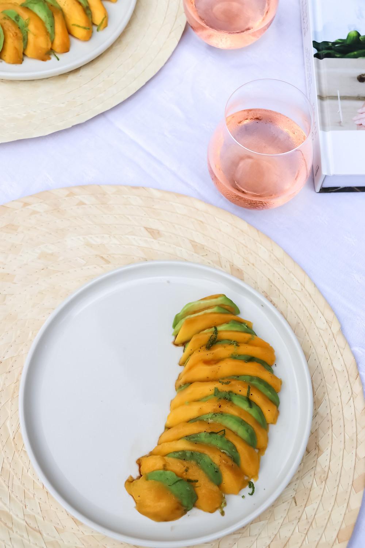 mango avocado salad gwyneth paltrow mirabeau wine rosé sistersjunction