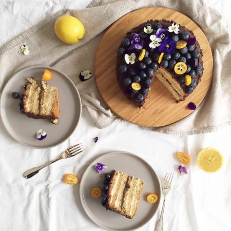 almond, lemon and chocolate layer cake (gâteau aux amandes, citron et chocolat)