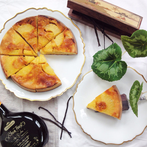 pineapple and yoghurt upside-down cake