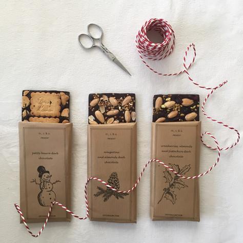 DIY christmas gift: homemade chocolate bars (DIY de noël : tablettes de chocolat)
