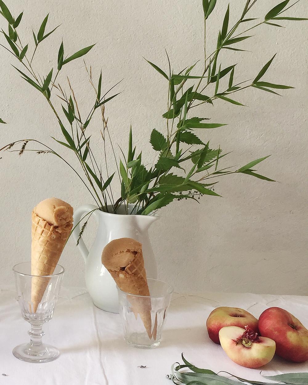peach and verbena sorbet