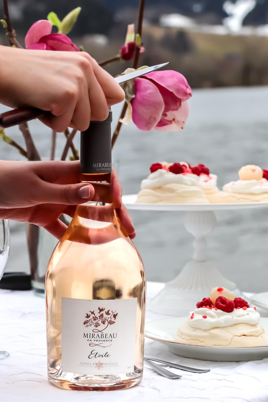 Mirabeau collaboration - sistersjunction - rose, lychee, raspberry pavlovas