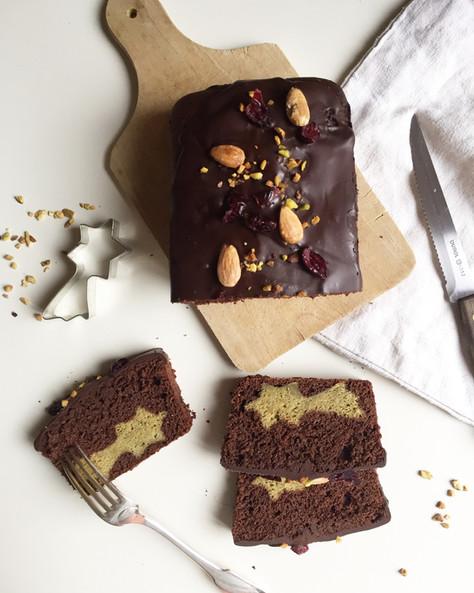 matcha and chocolate surprise cake (cake surprise au chocolat et au thé matcha)