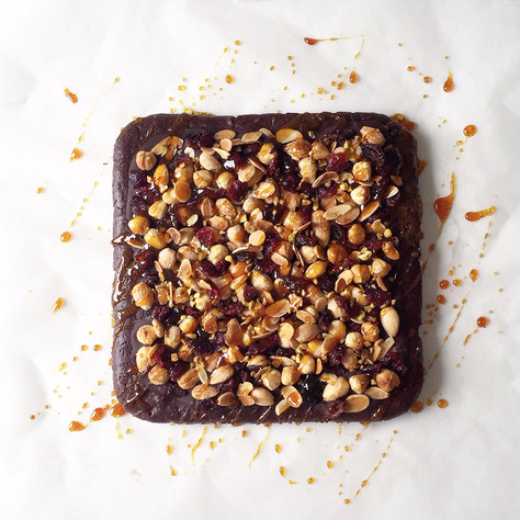 florentine-inspired brownie
