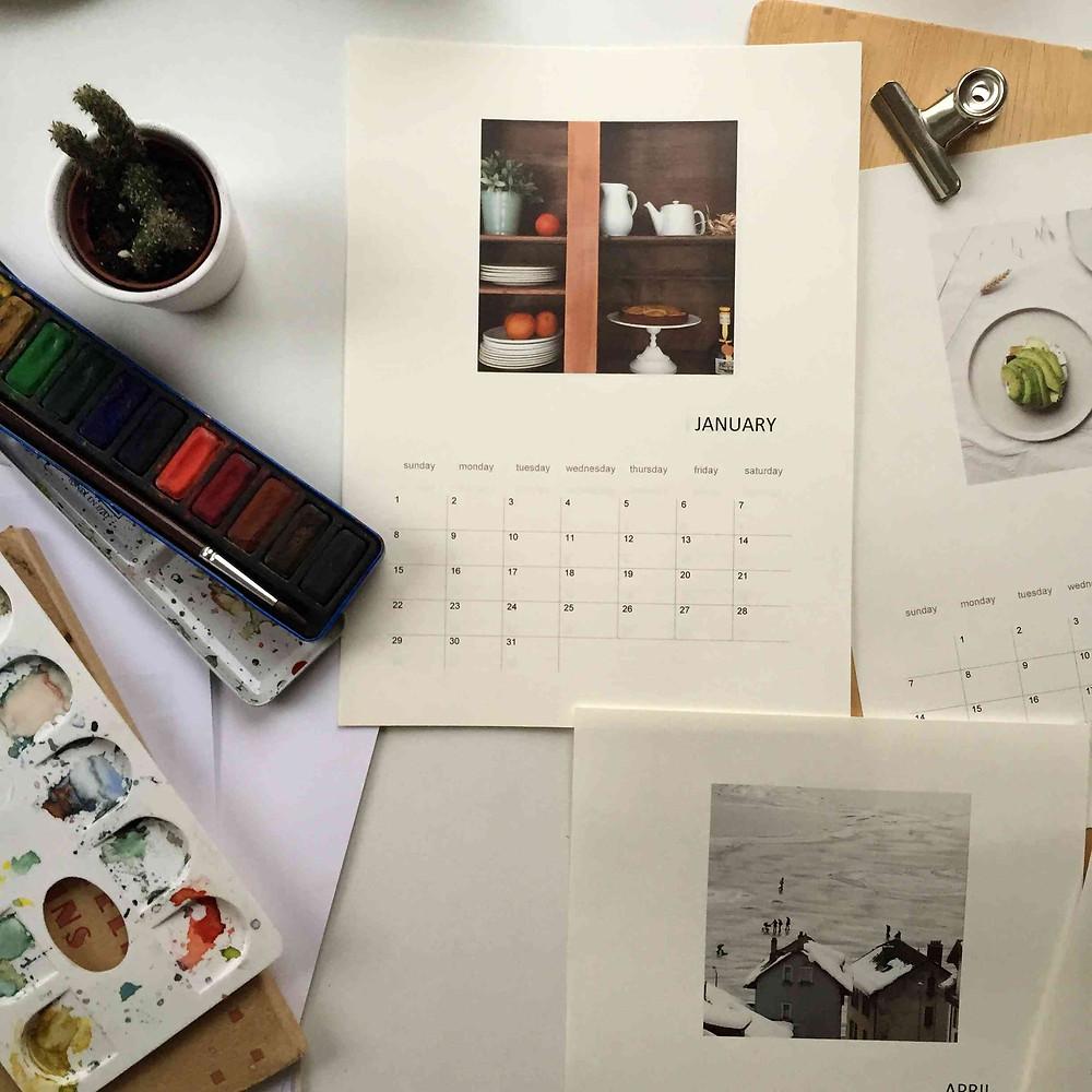 DIY make your own calendar fabriquez votre calendrier sistersjunction