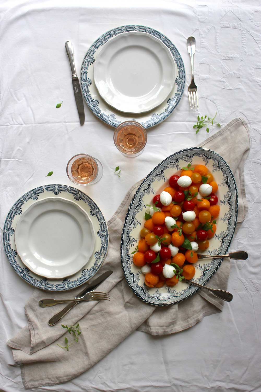 sistersjunction - melon, tomato, mozzarella salad (salade melon, tomates, mozzarella)