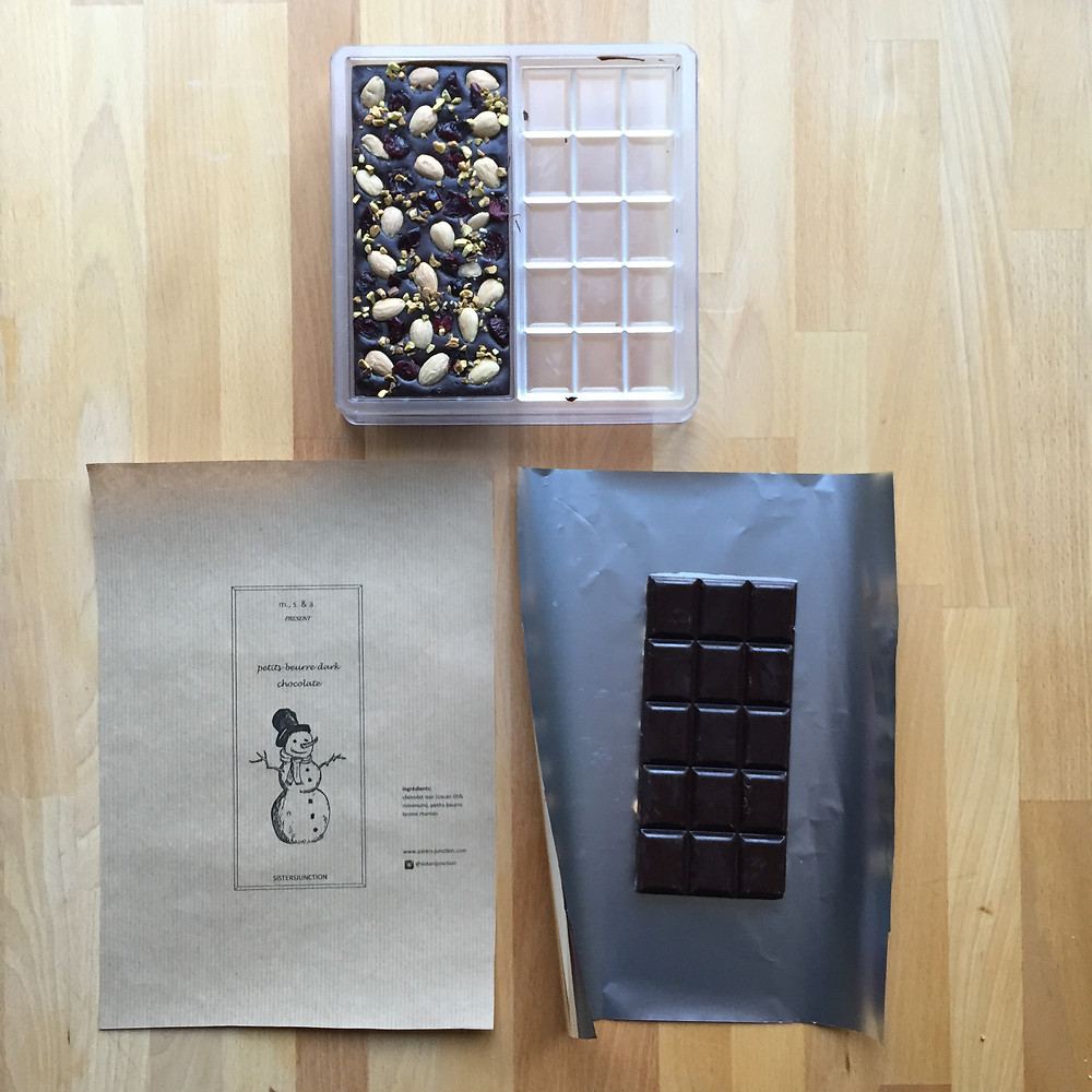 DIY christmas gift: homemade chocolate bars (DIY de noël : tablettes de chocolat)