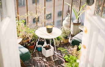 Städtischer Balkon