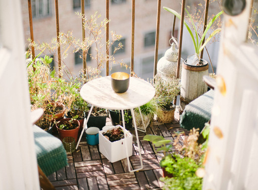 WFH? Take a break to read how to maximise the space on your balcony