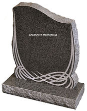Clayworth. Rustic, pitched edges and a contemporary Celtic knot enhance this substantial memorial in South African Dark Grey granite