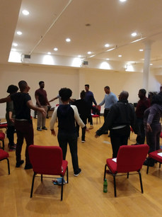 Rehearsals   The Passage: Stories from The Maafa directed by Kymbali Craig and  written by Jawanza Bakari.