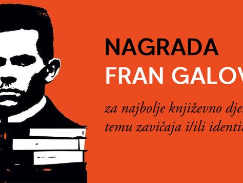 Raspisan natječaj za Nagradu Fran Galović 2021.