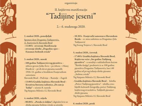 II. književna manifestacija Tadijine jeseni