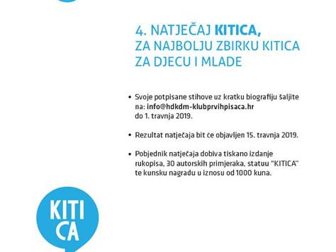 4. Natječaj Kitica za najbolju zbirku kitica za djecu i mlade